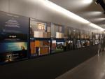 동국제강 본사 을지로 페럼타워에 전시된 2021년 컬러강판 신제품 샘플