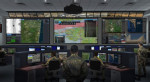 Representation of a NATO command and control center with NCOP vision on the screen © Thales
