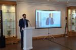 밀레니엄힐튼 서울에서 열린 2021 P4G 서울 정상회의 부대 행사 'Offshore Wind Korea, 12GW and Beyond'에서 야콥 라스무센 주한덴마크대사관 에너지 참사관이 국내 해상 풍력 발전 가속을 위한 균등화 발전 원가(LCOE) 연구 결과를 발표하고 있다