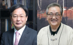 왼쪽부터 조재국 학교법인 서림학원 이사장, 김태일 장안대학교 총장