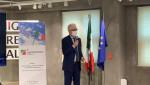 주한이탈리아대사 페데리코 파일라가 컨템포러리 이태리에서 기조 연설을 하고 있다