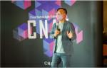 디지털엑스원 정우진 대표가 CNAX 행사장에서 발표를 하고 있다(자료 제공:디지털엑스원)