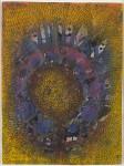 쿠사마 야요이의 리틀 플라워(Little Flower), 1952, 종이에 과슈, 파스텔, 잉크, 펜으로 작업, 11.5 x 8.5인치