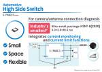 S-19682/3 시리즈는 업계 초소형 하이사이드 스위치로 차량용 카메라/안테나 연결 진단이 가능하다