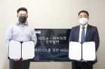 왼쪽부터 유효정 H2O.ai 한국지사장과 파워젠 이정규 대표가 협약식에서 기념 촬영을 하고 있다