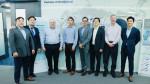 메디퓨처스 김지민 대표(맨 오른쪽)를 비롯한 사업 관계자들의 모습