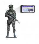 개인 전장가시화체계는 정보처리기(스마트폰)을 통해 전장 상황을 실시간으로 획득할 수 있다