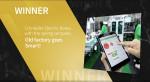B2B 비즈니스 부문과 베스트 인 디지털프린트 B2b 미디어 부문에서 수상한 익산 스마트 팩토리