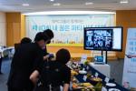 서울 신대방동 SPC미래창조원 컬리너리아카데미 SPC홀에서 심사위원들이 온라인을 통해 참가자들에게 출품작 성명을 듣고 심사를 진행하고 있다