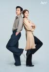 왼쪽부터 배우 류준열과 왕지원이 아에르 광고 모델로 선정됐다