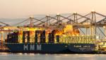 독일 함부르크항에서 하역 작업을 마치고 출항을 준비 중인 2만4000TEU급 컨테이너선 HMM 그단스크(Gdansk)호.