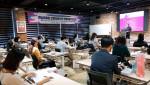 윤보현 원장이 게임 과몰입 전문상담 인력 역량 강화 워크숍에서 인사말을 하고 있다