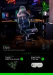 레이저(RAZER)가 장시간 게임 시에도 편안한 게이밍 의자 'Razer Enki'를 출시했다