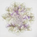 Breeze-B06, 100x100cm, Pencil, Acrylic on canvas, 2021