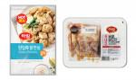 왼쪽부터 IFF 한입쏙 닭안심 오리지널과 순살 닭꼬치 제품