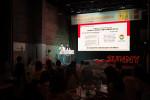 SK SUNNY 챌린지 프로젝트 성과 발표회에서 솔루션을 발표하는 슬기로운 화재대피 팀