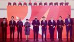 왼쪽부터 이수행 SK IET 본부장, 방문규 수은 행장, 야누스 미하웩(Janusz Michatek) 카토비체 경제특구청 대표, 선미라 주폴란드대사, 그제고시 피에호비악(Grzegorz Piechowiak) 폴란드 개발부 차관, 노재석 SK IET 대표, 로베르트 마그지아시(Robert Magdziarz) 실롱스크주 부주지사, 마르친 바질락(Marcin Bazylak) 돔브로바고르니차 시장, 크쉬슈토프 드린다(Krzysztof Drynda) 폴란드 투자청 대표