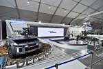서울 ADEX 2021 전시회에 참가한 현대로템 전시관