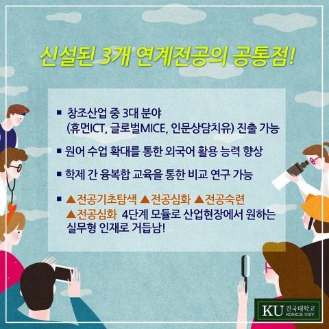 건국대, 휴먼ICT 등 인문학 연계전공 3개 신설… 9일 설명회 개최