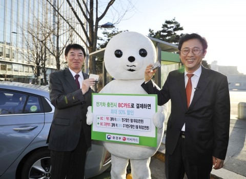 BC카드, 그린카드로 전기차 급속충전 시 50% 할인 혜택 제공