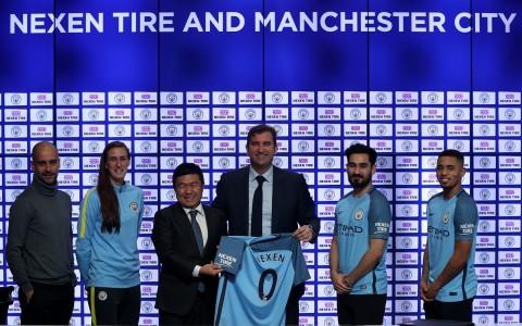 넥센타이어, 영국 프리미어리그 맨체스터 시티 FC와 후원 재계약 체결