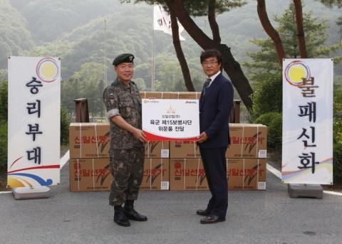 신일산업, 호국보훈의 달 맞아 육군부대 방문해 선풍기 전달