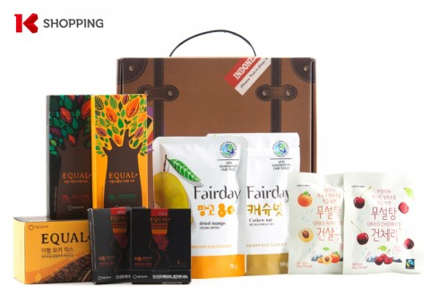 K쇼핑 동행관 입점 제품 아름다운커피의 '공정무역 선물세트'