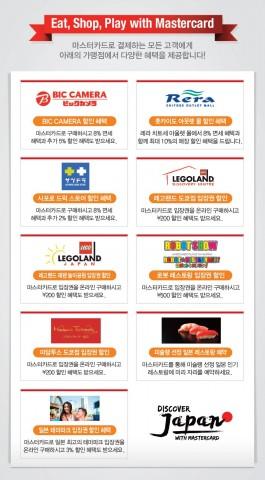마스터카드, 일본 주요 항공·쇼핑·테마파크 등 특별 혜택 제공