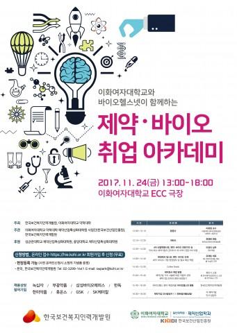 한국보건복지인력개발원, '제약·바이오 취업 아카데미' 개최