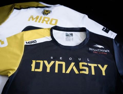 서울 다이너스티는 팀 유니폼에 넷기어의 나이트호크 프로 게이밍 로고를 새기고 경기에 출전한다