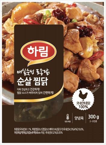 하림이 가정에서 간편하게 즐길 수 있는 토종닭 순살 찜닭을 선보인다