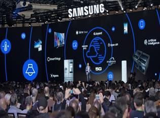 에코파트너즈가 CES 2018에서 신제품 가전전열기와 족열기를 삼성전자의 Open IOT Zone에서 선보였다