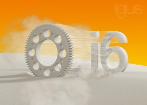 이구스의 새로운 SLS 재질 iglidur I6는 특히 기어 휠의 레이저 소결에 적합하며 표준 재료와 비교할 때 6배 더 높은 내마모성을 제공한다
