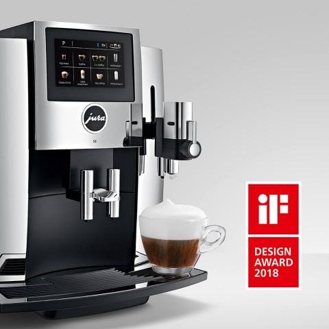 유라 가정용 커피머신 S8이 iF 디자인어워드 2018에서 주방 부문 제품 디자인을 수상했다