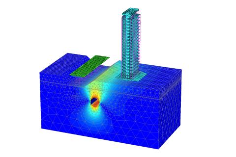 PLAXIS 3D는FEM 응력/변형 해석 프로그램 지질 공학 및 암석 역학의 변형, 토양 구조 상호작용 및 안정성에 대한 3차원 분석을 수행한다
