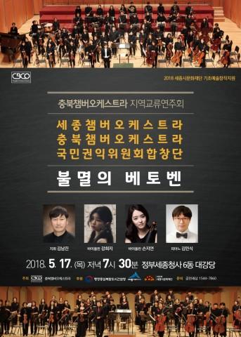 충북챔버오케스트라 지역교류연주회 불멸의 베토벤 세종 공연 포스터