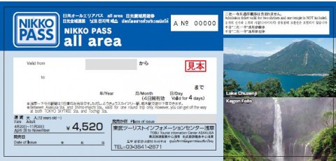 도부철도 NIKKO PASS all area 4일권