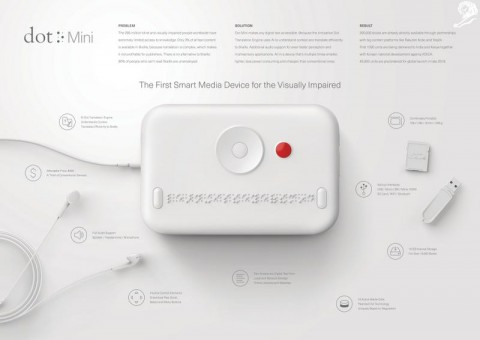 Dot Mini. The first smart media device for the visually impaired
