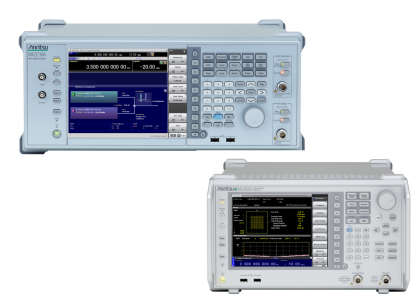 안리쓰코퍼레이션의 MG3710A signal generator with MS2690A/MS2691A/MS2692A signal analyzers