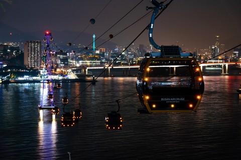 부산 송도해상케이블카가 2018-2019년도 겨울시즌 야간 특별할인 이벤트를 실시한다