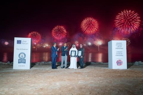 라스 알 카이마 2019 신년 전야 불꽃축제가 두 개의 기네스 세계 기록을 수립했다