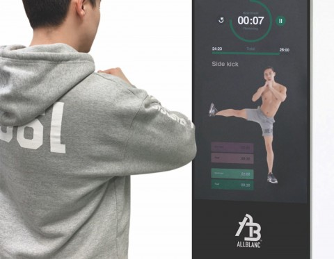 Allblanc launches its healthcare mirror display Allblanc Mirror Fit at CES 2019. Allblanc Mirror Fit, a mirror display-based healthcare device is a new platform that is being developed to enable users to learn diverse exercises remotely at home or in a fitness center.
