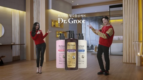 LG생활건강이 모델 김희철과 손나은이 출연하는 닥터그루트 새 TV 광고를 공개했다