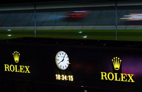 2018 데이토나 롤렉스 24의 롤렉스 카운트다운 시계