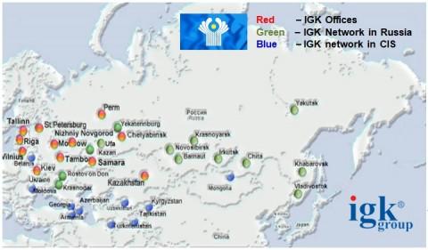 IGK그룹 CIS지역 네트워크