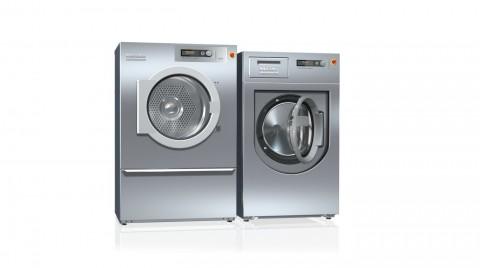 밀레 상업용 드럼세탁기와 의류건조기