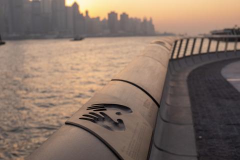 홍콩 스타 애비뉴의 일몰
