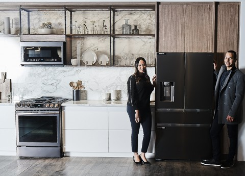 냉장고와 오븐 등 프리미엄 빌트인 가전 제품을 중심으로 한 투스칸 스테인리스 주방 가전 패키지