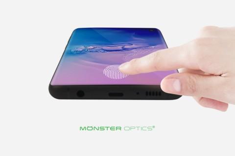 갤럭시 S10, S10+ 온스크린 지문 인식 기능 사용이 가능한 몬스터옵틱스 S10 시리즈 우레탄 필름