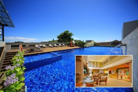 J4 HOTELS LEGIAN은 젊고 활력 넘치는 라이프 스타일을 디자인에 반영한 독특한 호텔로 번화가이자 관광 명소인 인도네시아 발리의 쿠타 지역 레기안 중심에 위치해 있다